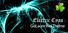 Electric Cyan GoLauncher theme