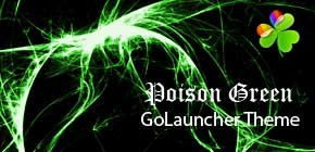 Poison Green GoLauncher theme