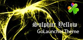Sulphur Yellow GoLauncher theme